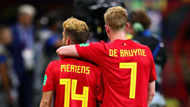 Mertens e De Bruyne são as estrelas da Bélgica