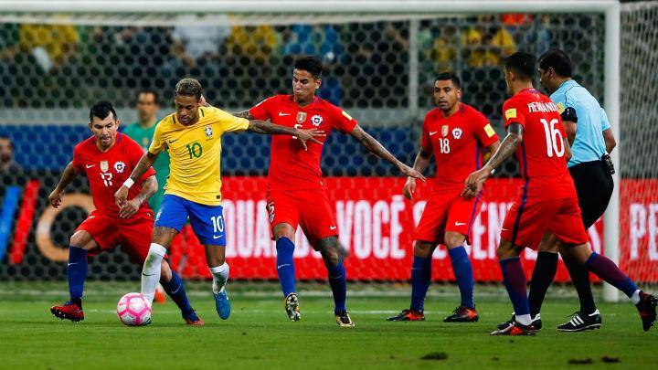 Equipes jogam no Rio de Janeiro   Brazil v Chile - 2018 FIFA World Cup Russia Qualifier