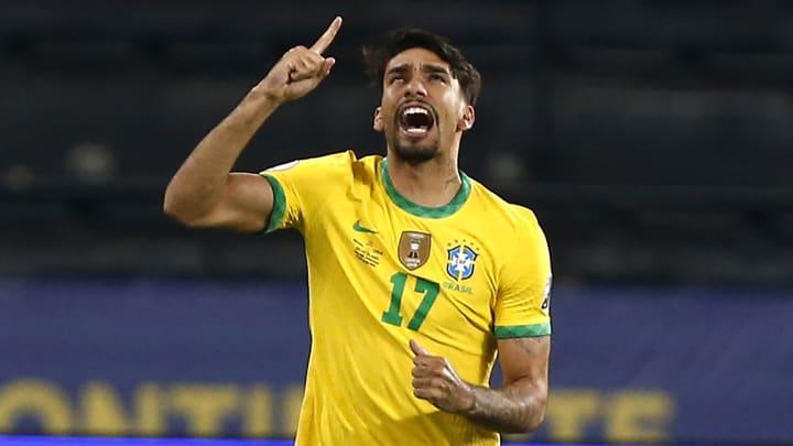 Lucas Paqueta a inscrit le seul but du match face au Chili.