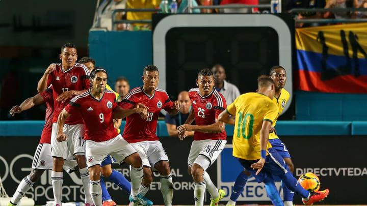 Brazil v Colombia - Neymar buscará volver a convertir ante los colombianos.