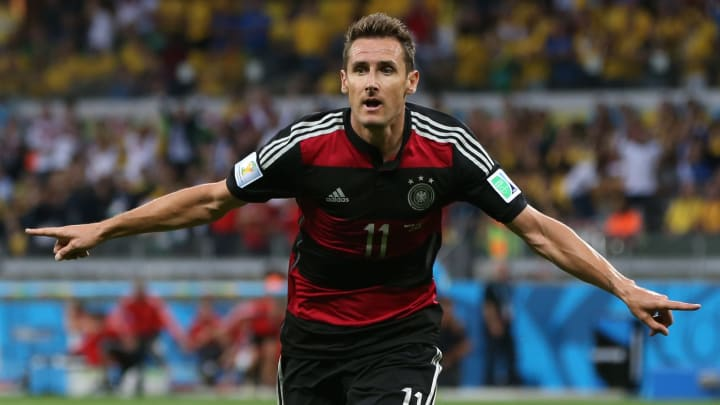 Miroslav Klose is the top scorer in the history of the World Cup