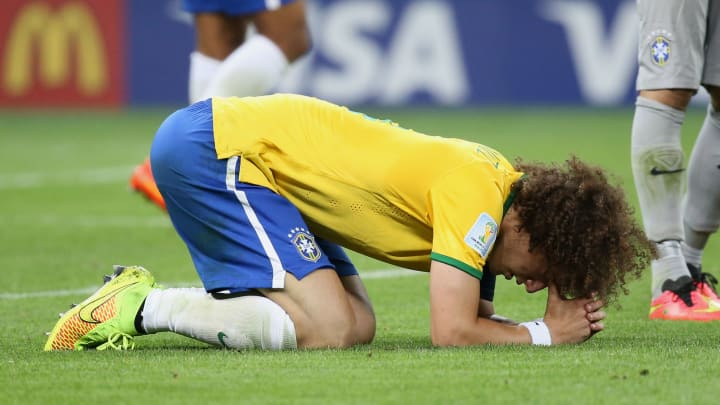 David Luiz breaks down in tears at the end of the semi-final humiliation