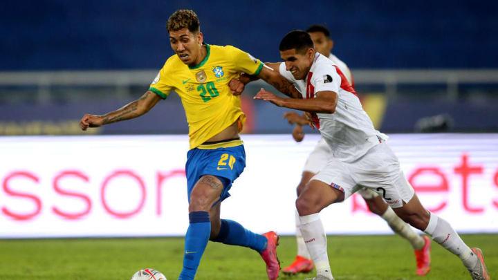 Roberto Firmino, Luis Abram Copa América Brasileirão Vélez