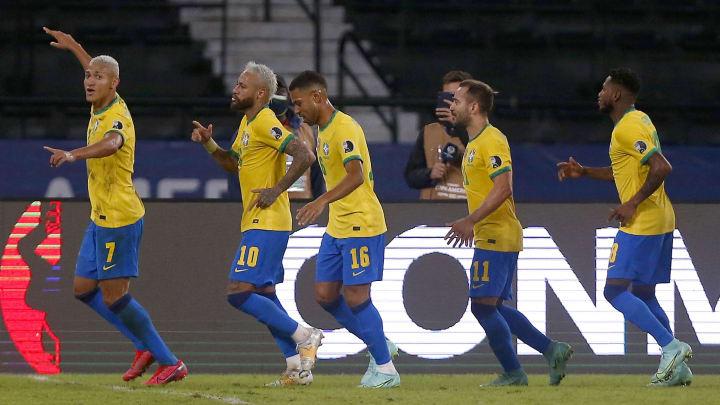 Brazil during the match against Peru: Group B - Copa America Brazil 2021