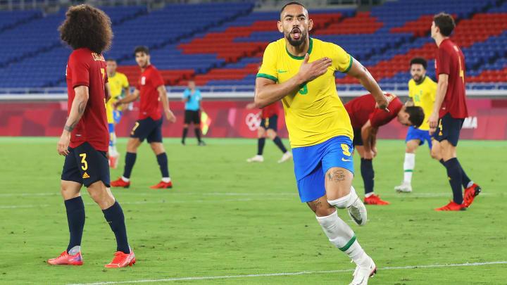 Matheus Cunha trifft zum 1:0.