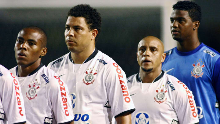 Brazilian striker Ronaldo, of Corinthian