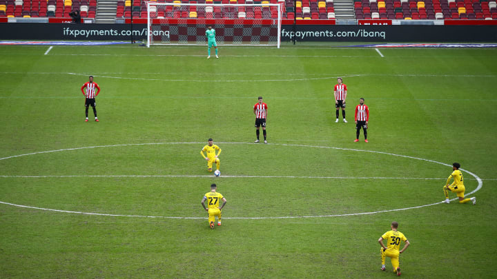 The Bees did not kneel before their game against Barnsley
