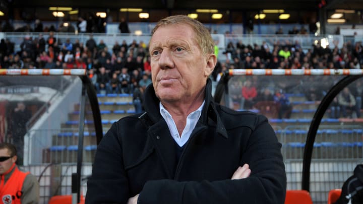 Brest's coach Alex Dupont is pictured pr