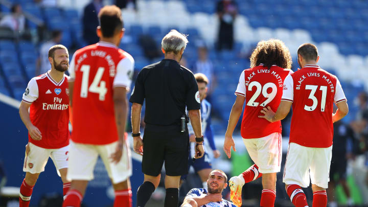 Tempers flared during Arsenal's 2-1 loss to Brighton