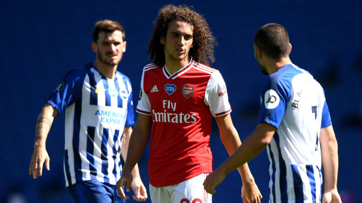 Matteo Guendouzi was involved in a heated confrontation with Neal Maupay at Brighton