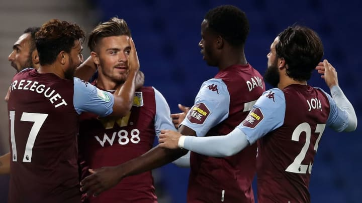 Jack Grealish helped dump Brighton out of the Carabao Cup