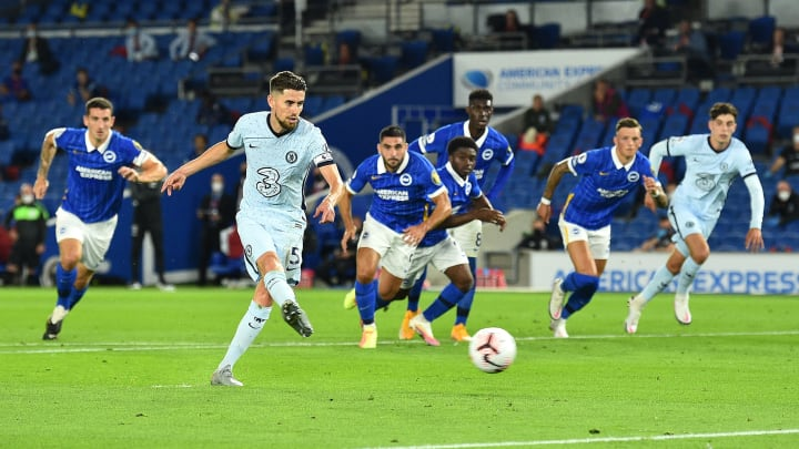 Jorginho netted a penalty on matchday one at Brighton