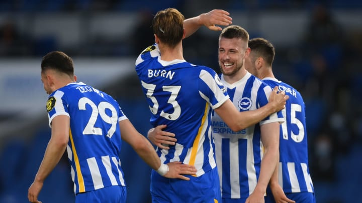 Brighton fought back superbly to down 10-man Manchester City
