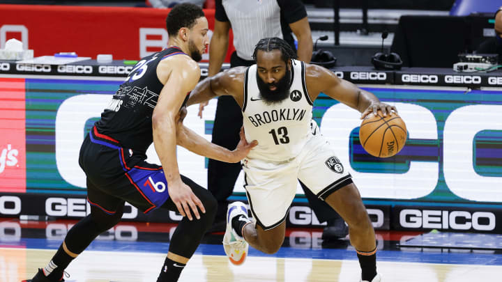Ben Simmons and James Harden