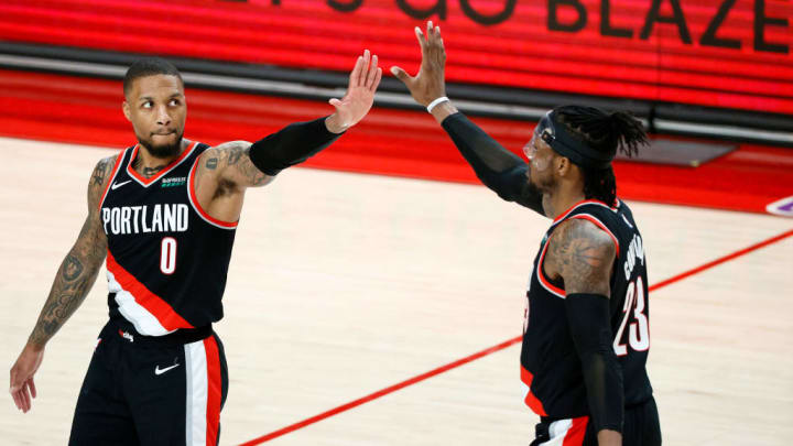 Damian Lillard, Robert Covington, Houston Rockets