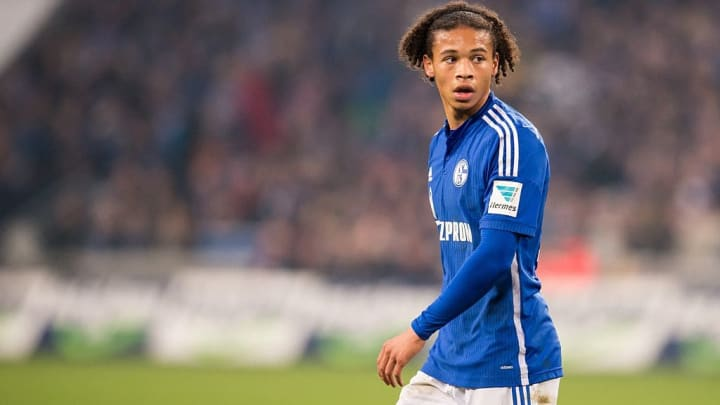 A young Leroy Sane in action for Schalke
