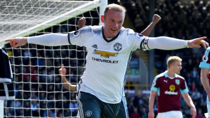 Wayne Rooney scores a goal