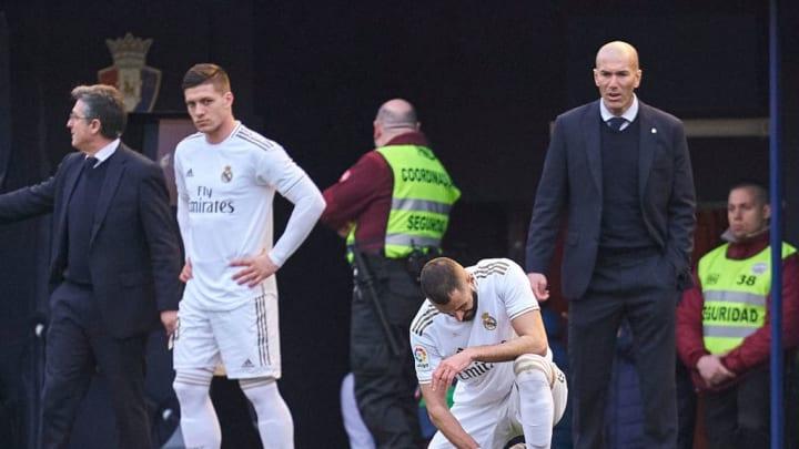 Luka Jovic, Karim Benzema, Zinedine Zidane, Manager of Real Madrid