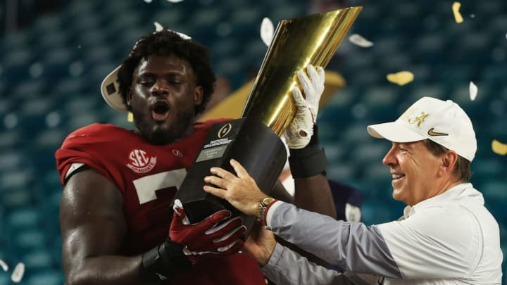 Alex Leatherwood, Nick Saban