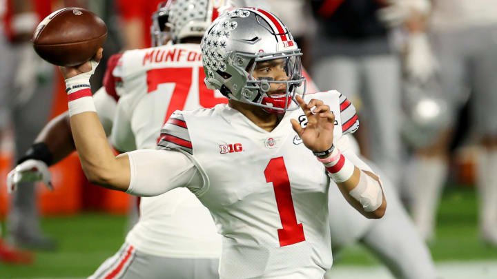 Justin Fields and Mac Jones are tied atop the odds to go No. 3 in the 2021 NFL Draft.