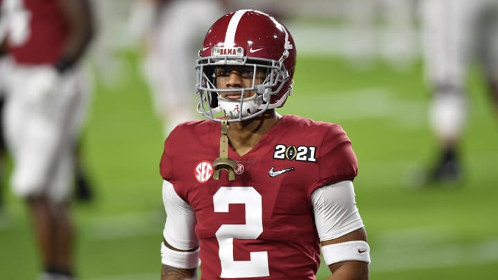 Three players the Atlanta Falcons should target if they trade down in the NFL Draft, including Patrick Surtain II.