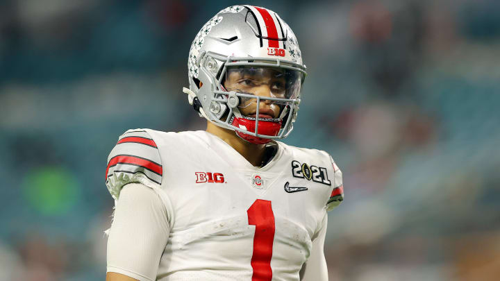 Ohio State quarterback Justin Fields' draft stock is falling more than you think heading into the 2021 NFL Draft.