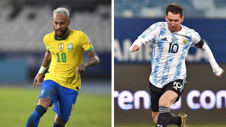 Neymar e Messi são as grandes estrelas do duelo