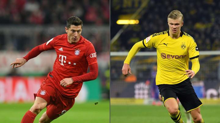 Erling Haaland oder Robert Lewandowski: Im Sommer 2022 könnte bei den Bayern ein Wechsel im Sturm stattfinden.
