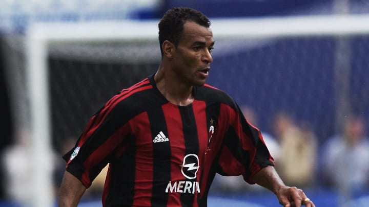 Cafu of AC Milan running with the ball
