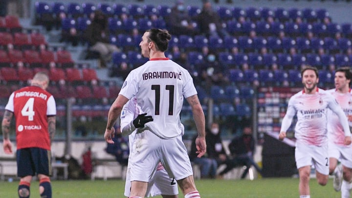 Zlatan scored a brace on his return to the starting XI for Milan, because of course he did.