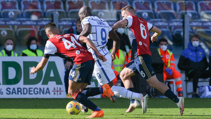 Lukaku in azione nel match d'andata