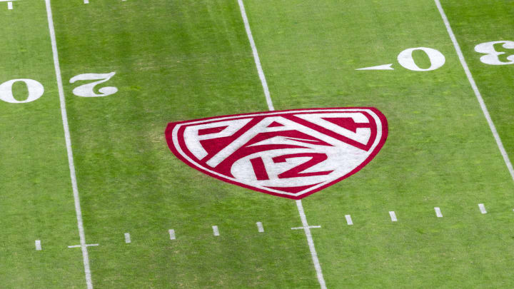 Pac-12 logo, California v Stanford