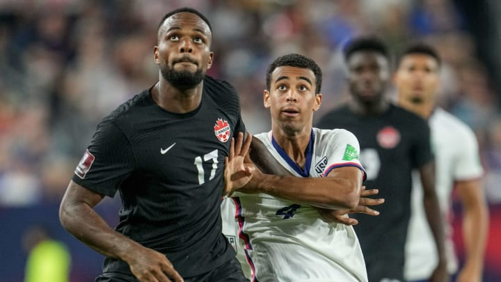 Cyle Larin scored his 20th international goal to draw Canada level against the United States.