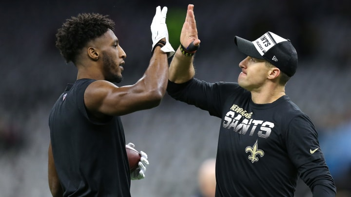 New Orleans Saints WR Michael Thomas and QB Drew Brees
