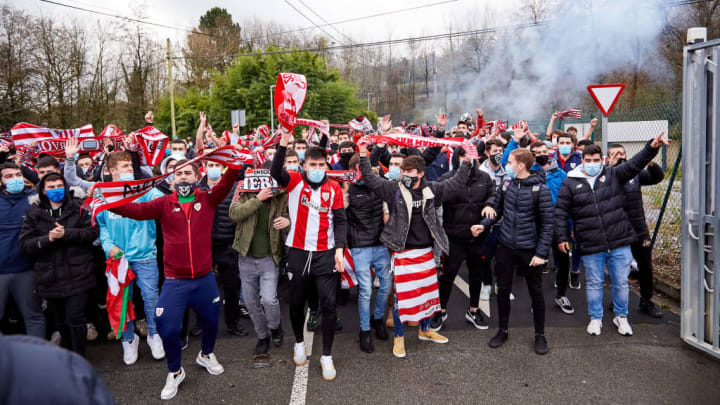 Celebrations Of Athletic Club In Bilbao After Victory In Spanish Supercup Final