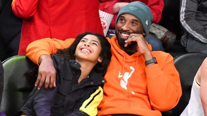 Gianna Bryant and Kobe Bryant.