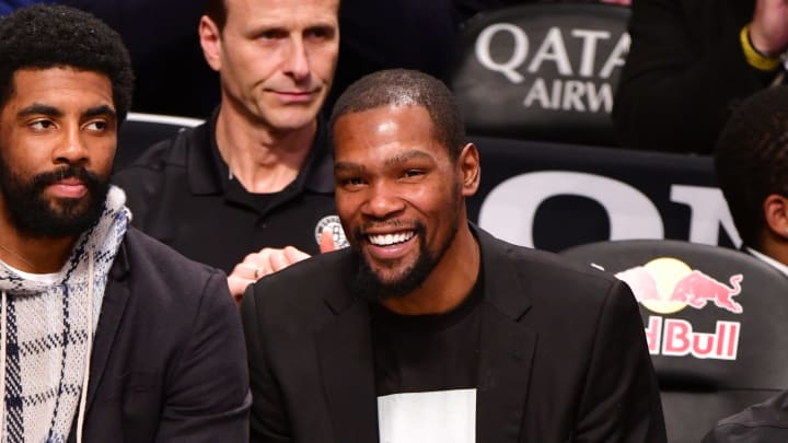 Kyrie Irving (left) and Kevin Durant.
