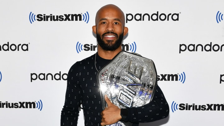 NEW YORK, NEW YORK - NOVEMBER 12: (EXCLUSIVE COVERAGE) Mixed martial artist Demetrious Johnson visits SiriusXM Studios on November 12, 2019 in New York City. (Photo by Slaven Vlasic/Getty Images)