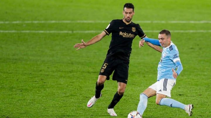 Iago Aspas Sergio Busquets Celta de Vigo Barcelona LaLiga