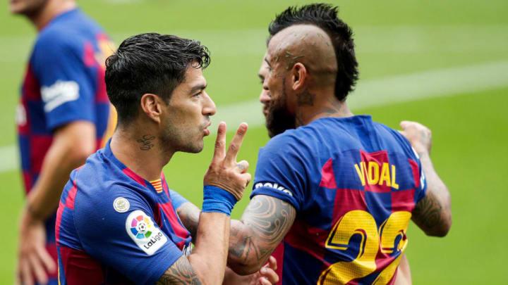 Luis Suarez Lionel Messi Hat-trick Barcelona Real Madrid LaLiga
