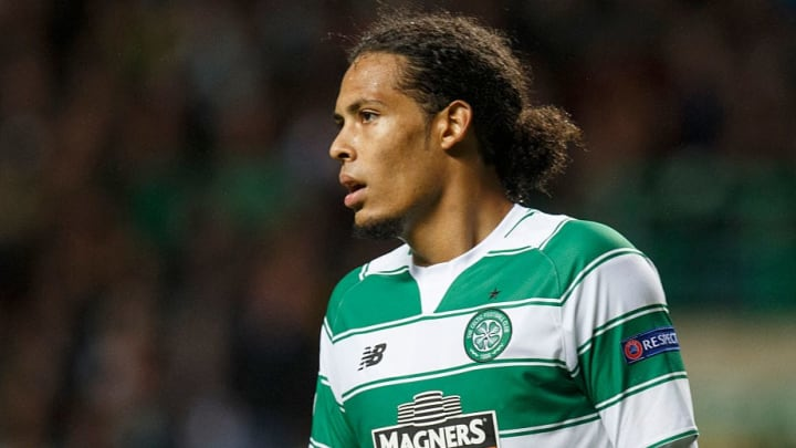 Virgil van Dijk sous les couleurs du Celtic.