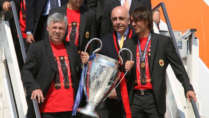 Carlo Ancelotti, Paolo Maldini, Adriano Galliani