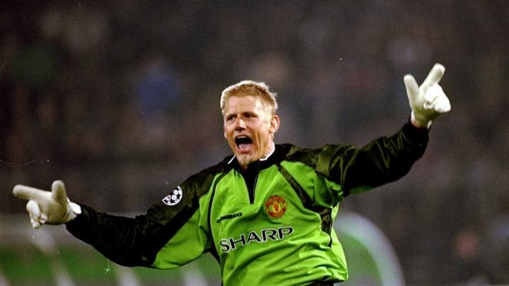 Schmeichel a disputé 398 matches sous le couleurs de Manchester United, entre 1991 et 1999.