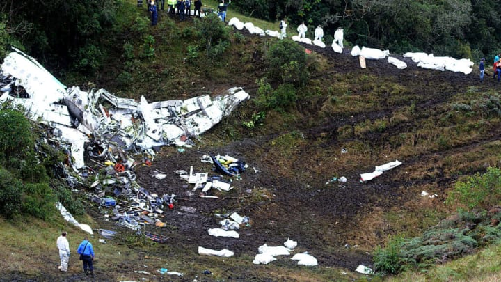 Chapecoense Airplane Crashes in Colombia