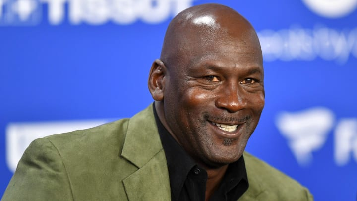 Michael Jordan smiling.