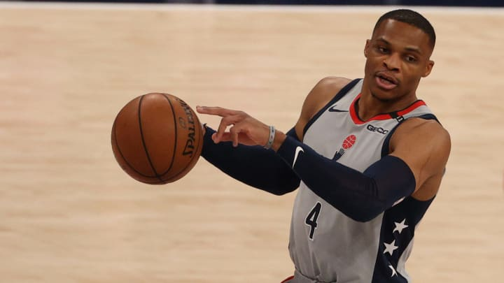 Russell Westbrook against the Charlotte Hornets.