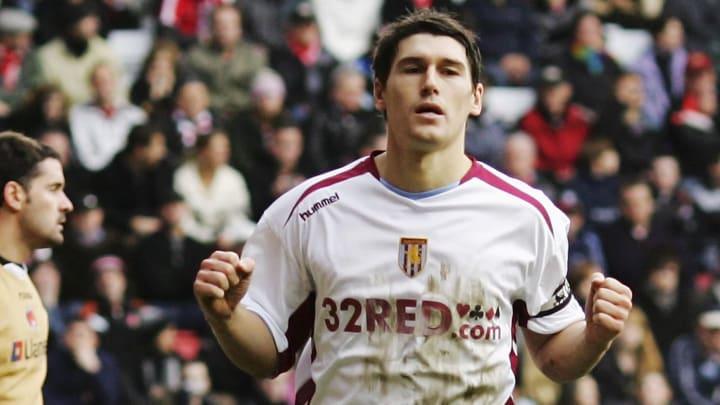 Gareth Barry celebrates scoring