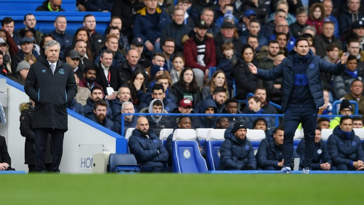 It's student versus master in the Premier League on Saturday as Frank Lampard leads his troops to face Carlo Ancelotti's Everton at Goodison Park