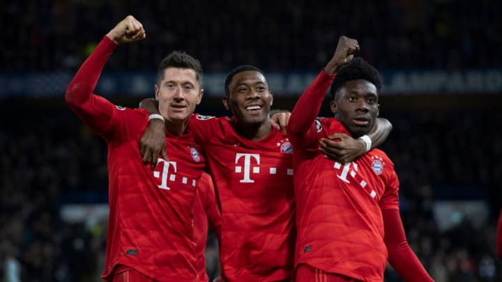 Robert Lewandowski, David Alaba, Alphonso Davies