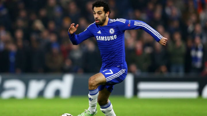 Mohamed Salah while playing for Chelsea in 2014
